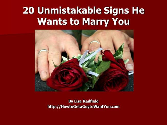 How to know if he wants to marry you