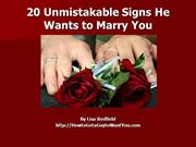 20  Signs He Wants to Marry You