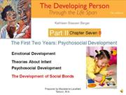 DP Chapter 7b  First Two Years Psychosocial Development Attachment