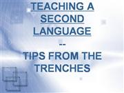 TEACHING A SECOND LANGUAGE-tips