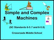 Simple and Complex Machines notes
