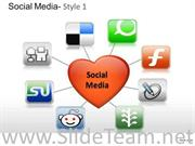LOVE SOCIAL MEDIA SLIDES AND DIAGRAM TEMPLATES