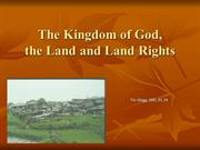 The Kingdom of God and Land Rights