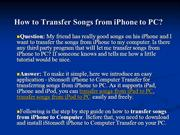 How to Transfer Songs from iPhone to PC, Transfer Songs from iPhone to