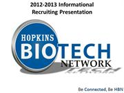 Hopkins Biotech Network Recruiting Presentation