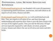 Professional Legal Network Services and Experience