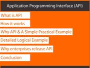 Application Programming Interface - API