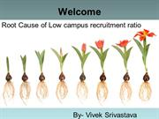 Root Cause of Low campus recruitment ratio