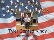 Tyler's Eagle Court of Honor