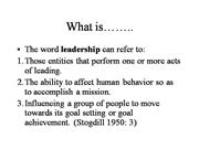 What is leadership L-1