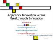 Adjacency Innovation versus Breakthrough Innovation