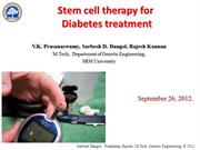 Stem Cell therapy for diabetes treatment