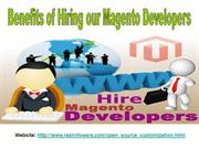 Benefits of Hiring our Magento Developers
