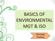 ISO & Basics of Environmental Mgt