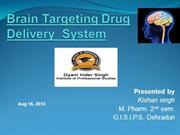 Brain Targeting Drug Delivery  System