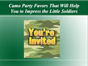 Camo Party Favors That Will Help You to Impress the Little Soldiers