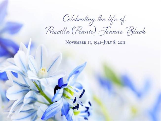 pennie black memorial service powerpoint |authorstream, Presentation templates