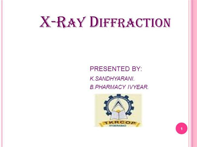 X ray diffraction2 authorstream x ray diffraction technique ccuart Images