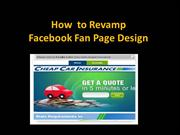 How  to Revamp Facebook Fan Page Design