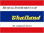 Musical Instruments Of Thailand