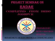 RADAR PPT MADE BY RENU CHAUHAN