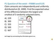 P1 Question of the week – P0088 Level