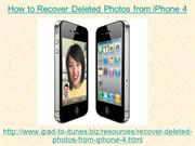 How to Recover Deleted Photos from iPhone 4