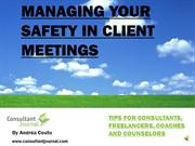 Safety in Client Meetings - Consultants, Freelancers & Counselors