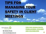Safety tips for meeting with clients