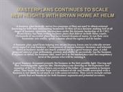 Masterplans continues to Scale New Heights with Bryan Howe at Helm