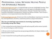 Professional Legal Network Helping People for Affordable Housing