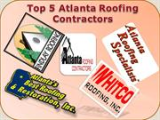 Top 5 Atlanta Roofing Contractors