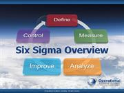 Six Sigma Overview by Allan Ung, Operational Excellence Consulting