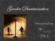 gender discrimination.....