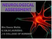 NEUROLOGICAL ASSESSMENT PPT BY HEENA MEHTA
