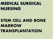 Presentation of stem cell and bone marrow tranplan tation