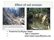 Effect of soil erosion
