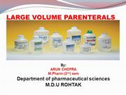 LARGE VOLUME PARENTRAL