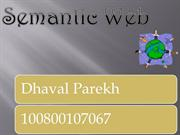 semantic web by dhaval n parekh