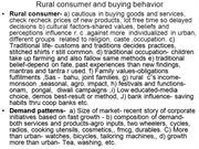 Rural marketing-2 rural consumer