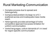 Rural marketing-communication