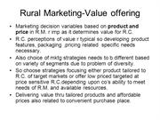Rural Marketing-value pffering-II