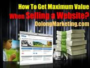 How to Get Maximum Value When Selling a Website