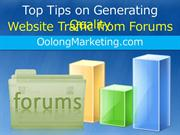 Top Tips on Generating Quality Website Traffic from Forums