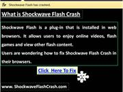 Shockwave Flash Crash - Fix Flash Plugin For Browsers
