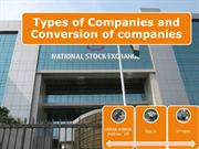 types of companies and conversion of companies