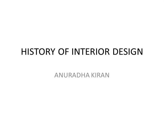 Interior Design History Authorstream