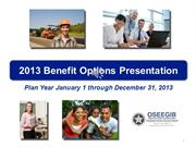 2013 Employee Benefit Options with HMO and narration