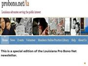 OCTOBER 2012 SPECIAL EDITION LOUISIANA PRO BONO NET NEWS