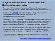 Surge in New Business Development and Business Manager Jobs